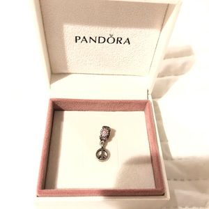 Authentic Pandora Sign of Peace Charm